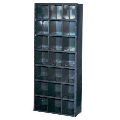 HeviLoad 36 in. W. x 12 in. D. x 85 in. H. 21 Bin Gray Industrial Bin Unit Shelving