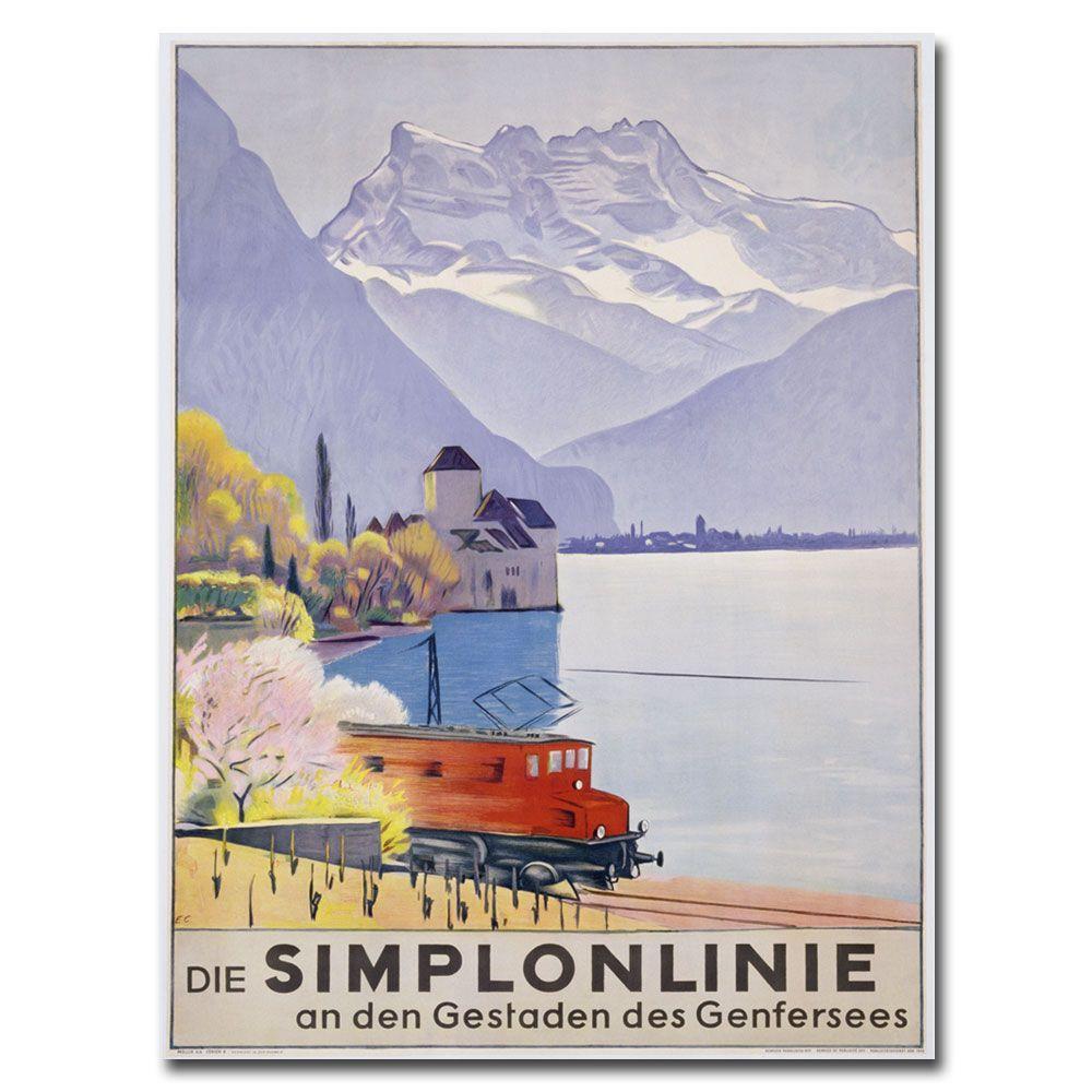Trademark Fine Art 24 in. x 32 in. Die Simplonline Canvas