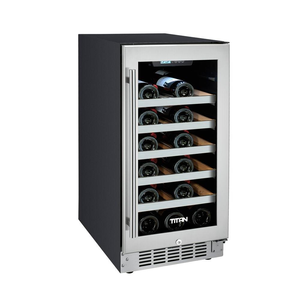 Wine fridge humidity control home design for Modern homes 8 bottle wine cooler