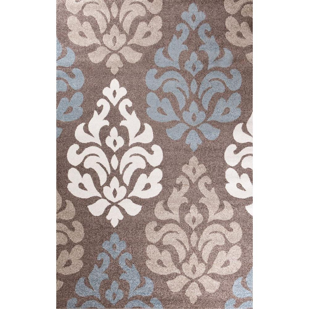 Concord Global Trading Casa Collection Victoria Brown 5 ft. 3 in. x 7 ft. 3 in. Area Rug