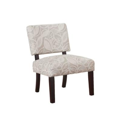 Austin Beige With Gray Floral Accent Chair