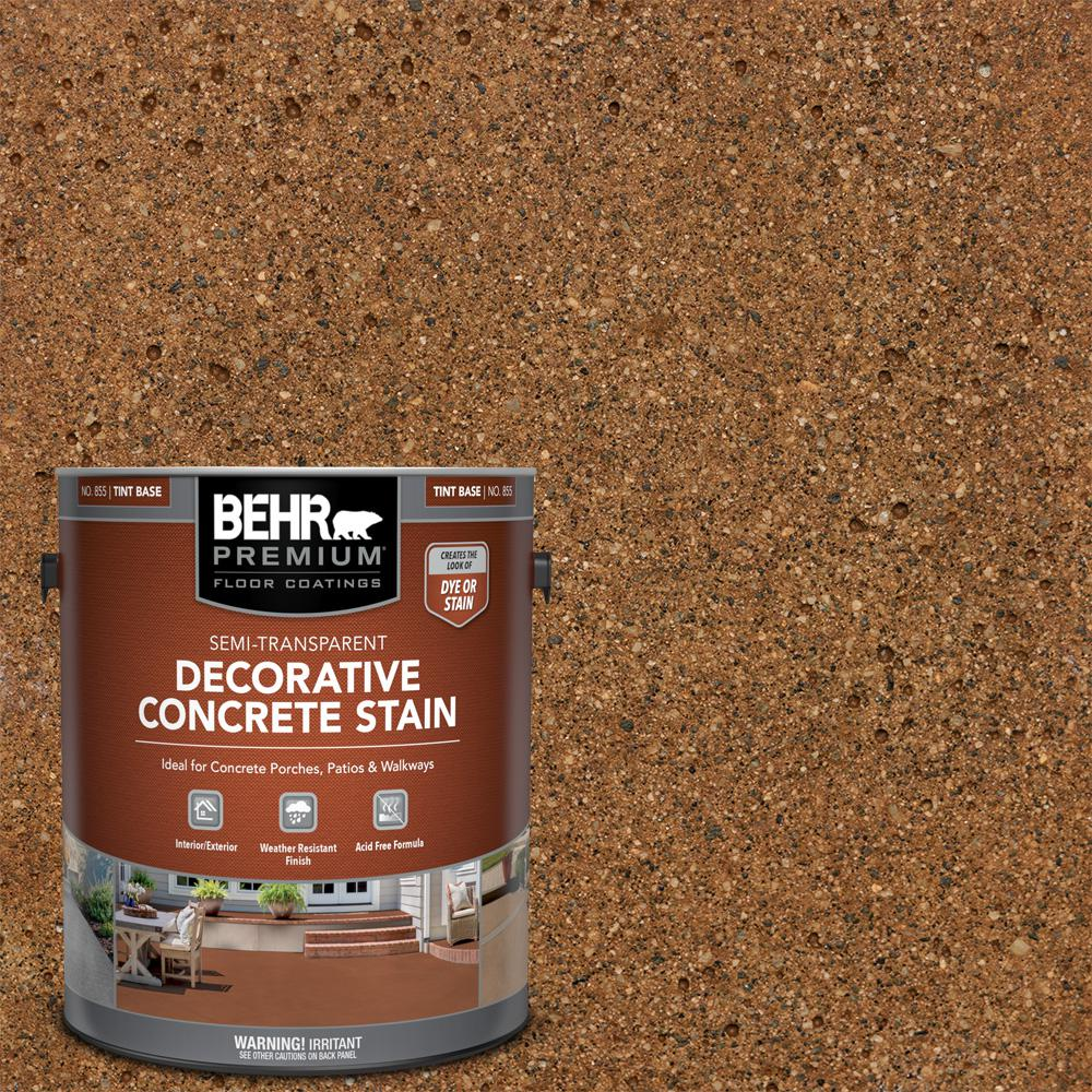 BEHR PREMIUM 1 gal. #DCS-801 Copper Canyon Semi-Transparent Flat Interior/Exterior Decorative Concrete Stain