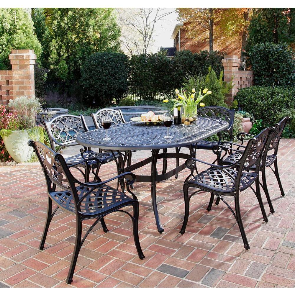 Home Styles Biscayne Black 7 Piece Patio Dining Set
