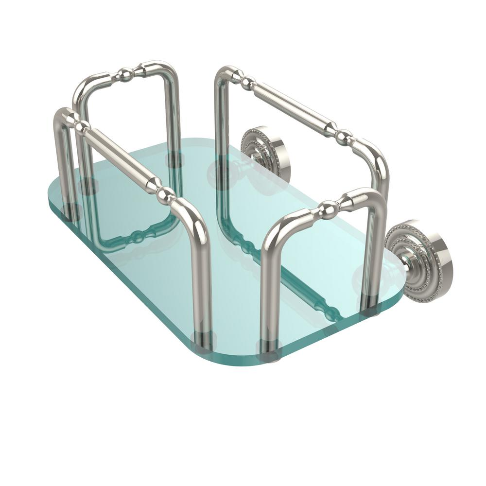 Allied Brass Dottingham Wall Mounted Guest Towel Holder in Polished ...