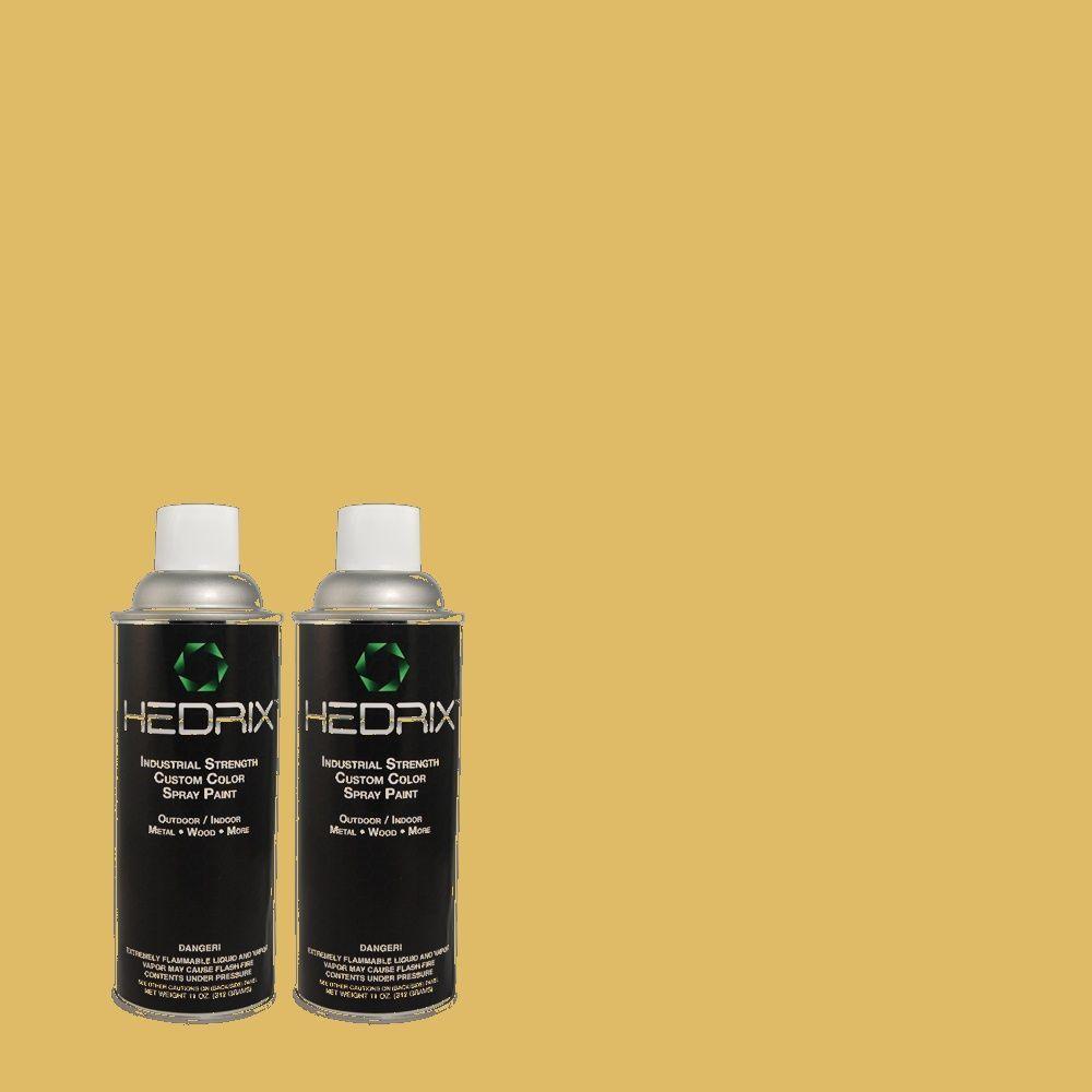 Hedrix 11 oz. Match of 2A5-5 Aztec Gold Semi-Gloss Custom Spray Paint (2-Pack)