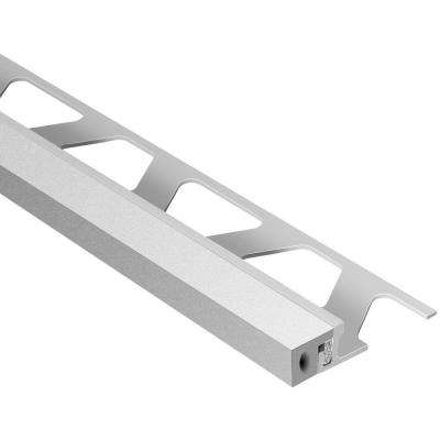Dilex-KSA Aluminum with Classic Grey Insert 17/32 in. x 8 ft. 2-1/2 in. Rubber and Metal Movement Joint Tile Edging Trim
