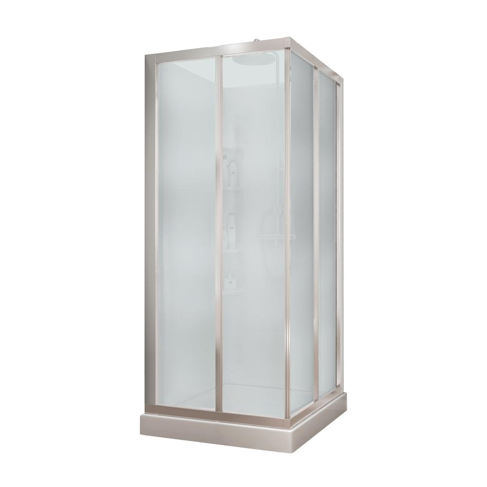 MAAX Mediterranean III 32 in. x 32 in. x 74 in. Corner Shower Kit ...