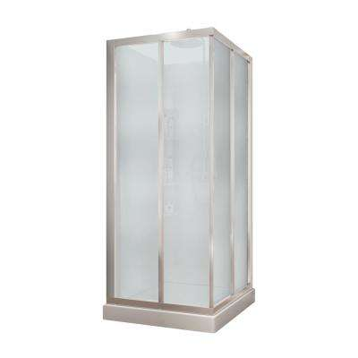Charmant Mediterranean III 32 In. X 32 In. X 74 In. Corner Shower Kit