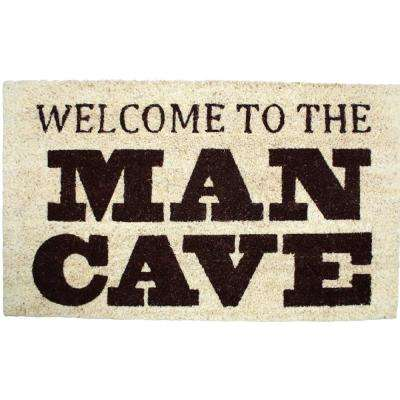 18 in. x 30 in. Welcome To The Man Cave Vinyl Back Coco Door Mat