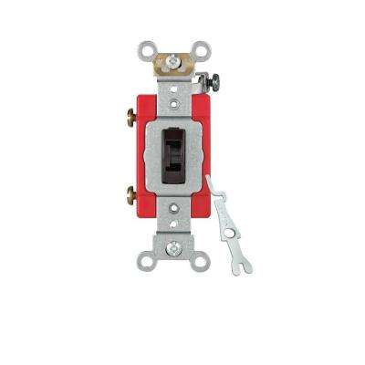 15/20 Amp Single-Pole Industrial Locking Toggle Switch, Brown