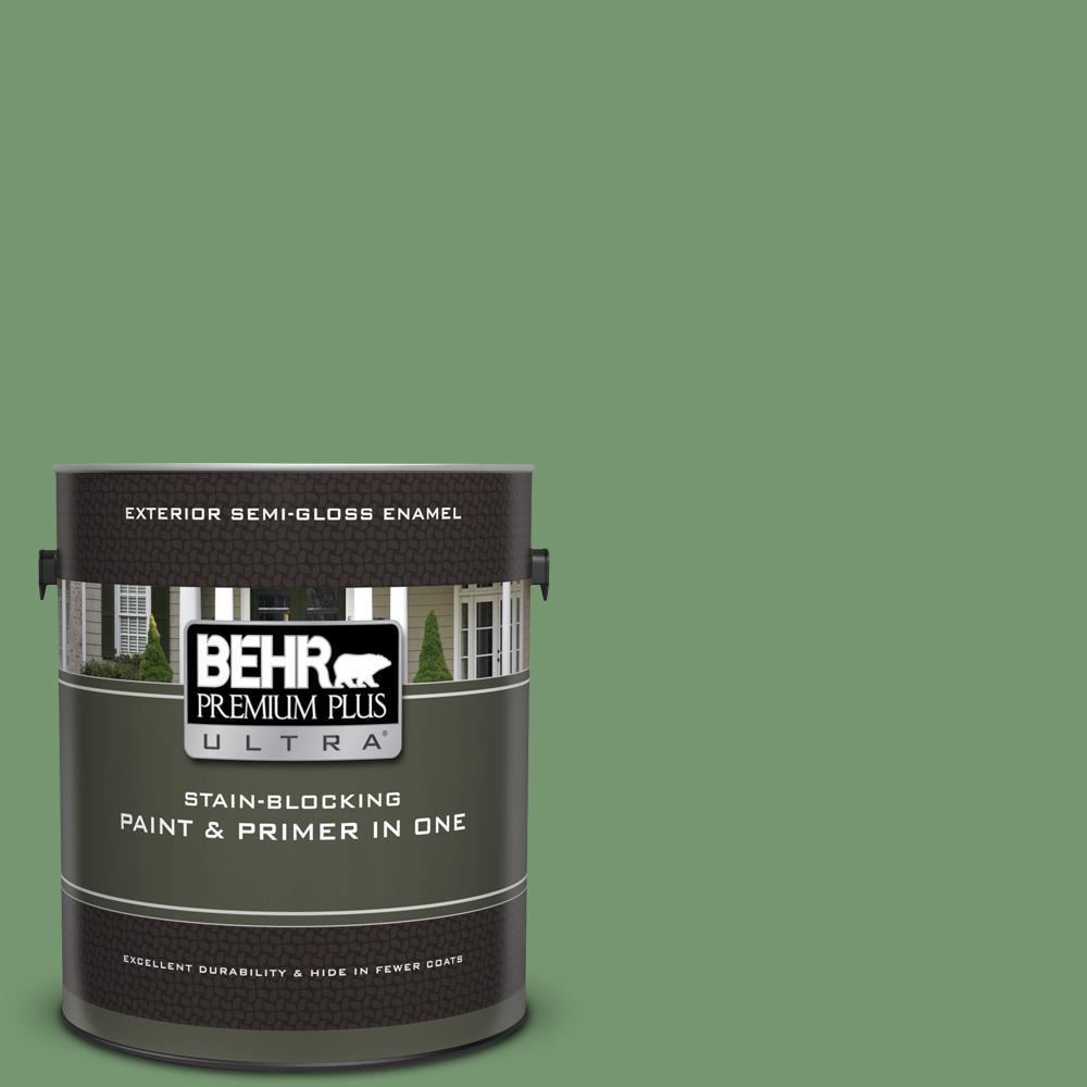 Behr Premium Plus Ultra 1 Gal Ppu11 03 Botanical Green Semi Gloss