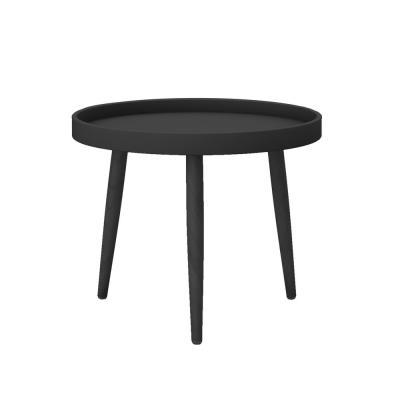 Kurv 17.7 in. Black Chat Table