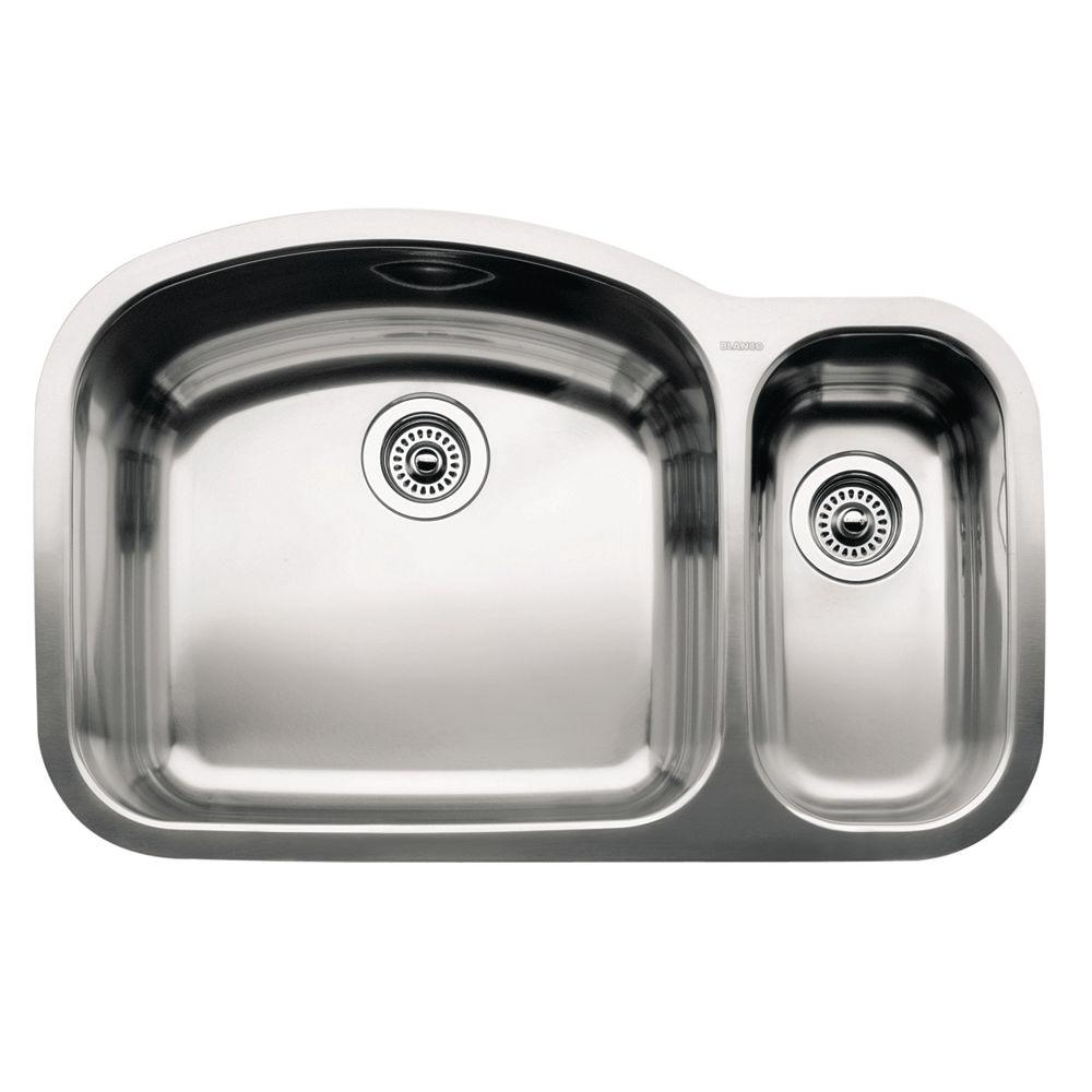 Blanco wave undermount stainless steel 32 in 1 12 double bowl blanco wave undermount stainless steel 32 in 1 12 double bowl kitchen workwithnaturefo
