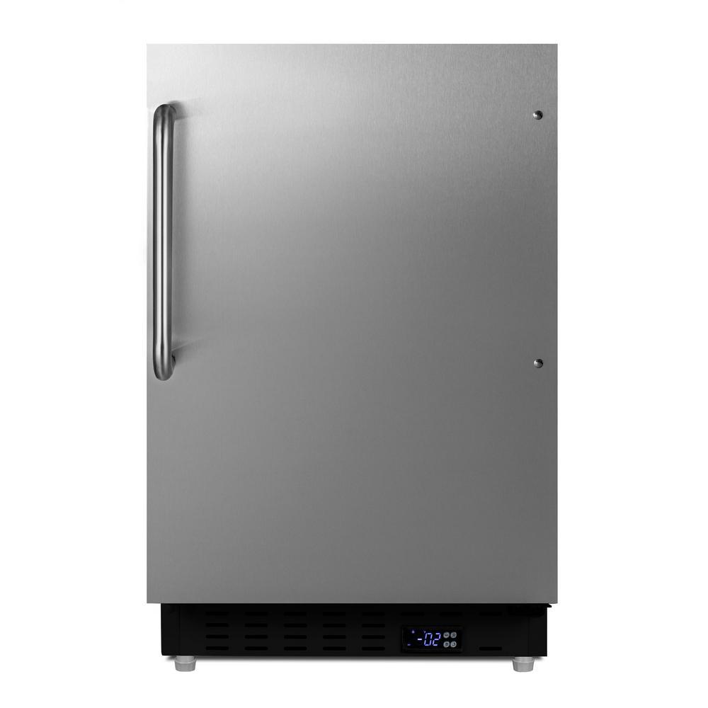2.68 cu. ft. Manual Defrost Upright Freezer in Stainless Steel, ADA Compliant