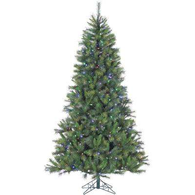 9 ft. Pre-lit LED Canyon Pine Artificial Christmas Tree with 900 Multi-Color String Lights