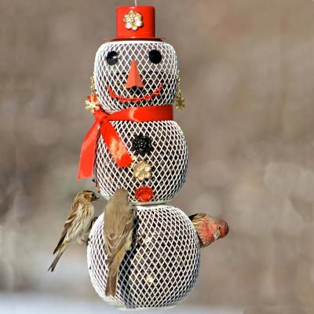Snow Woman Hanging Bird Feeder - 2.25 lb. Capacity