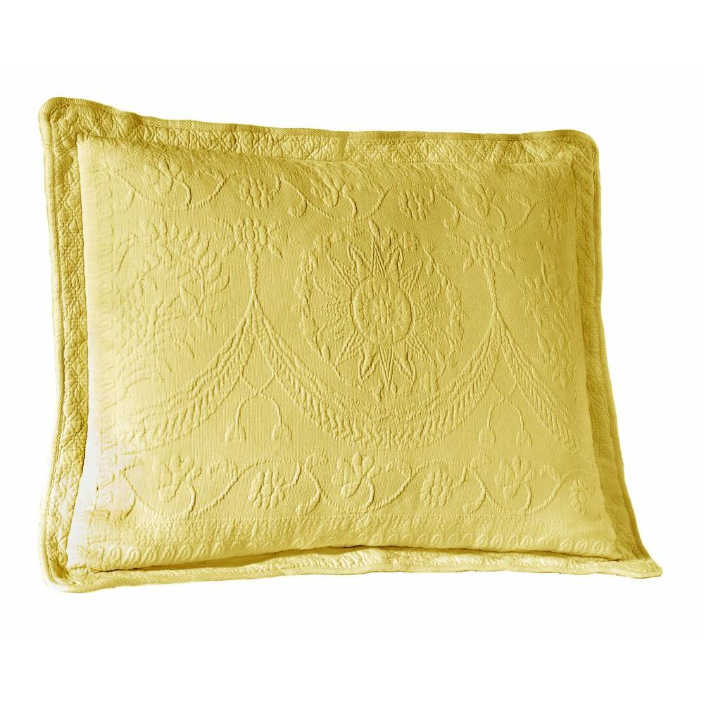 Historic Charleston Collection King Charles Sunshine Matelasse Cotton King Pillow Sham