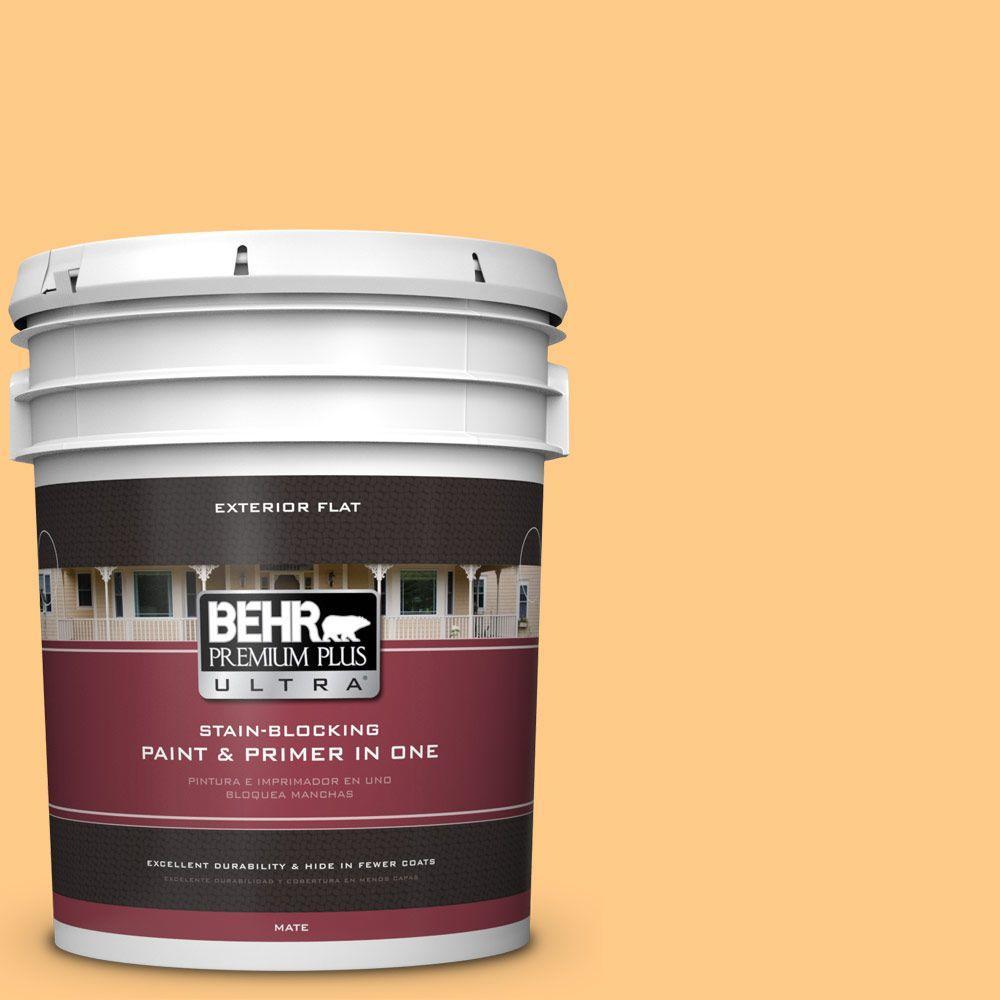 BEHR Premium Plus Ultra 5-gal. #290B-5 Torchlight Flat Exterior Paint