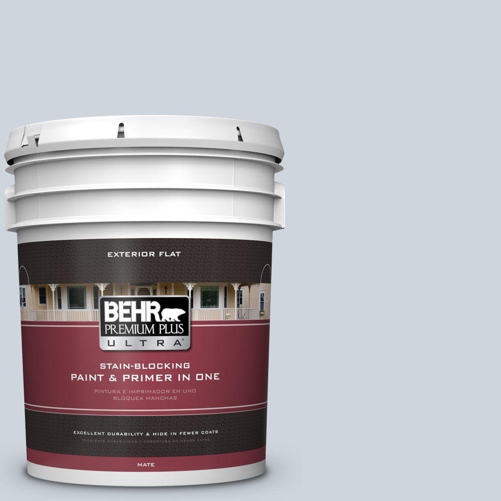 BEHR Premium Plus Ultra 5-gal. #PPU14-17 Polar Drift Flat Exterior Paint