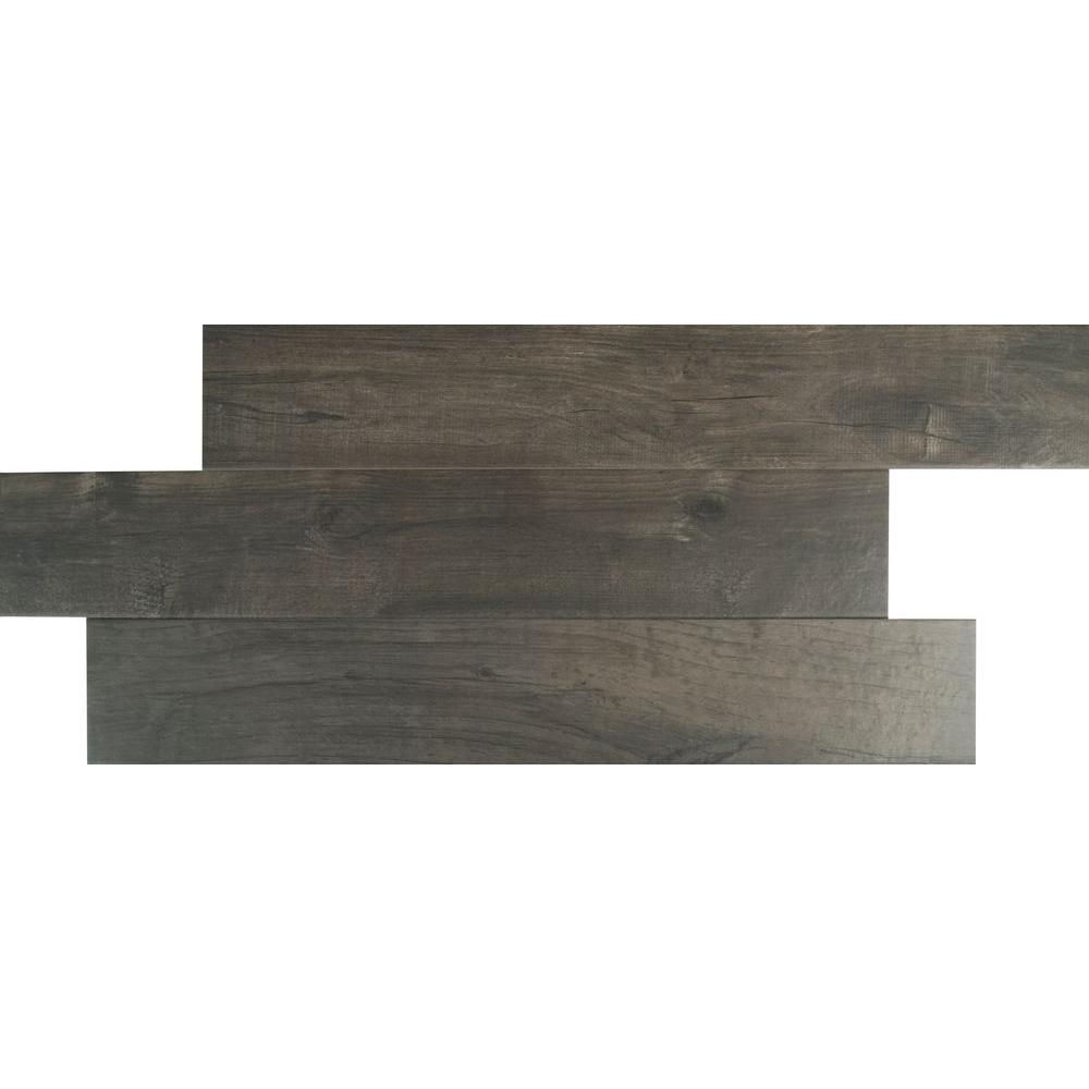 MSI Ardennes Notte 6 in. x 36 in. Glazed Porcelain Floor and Wall ...