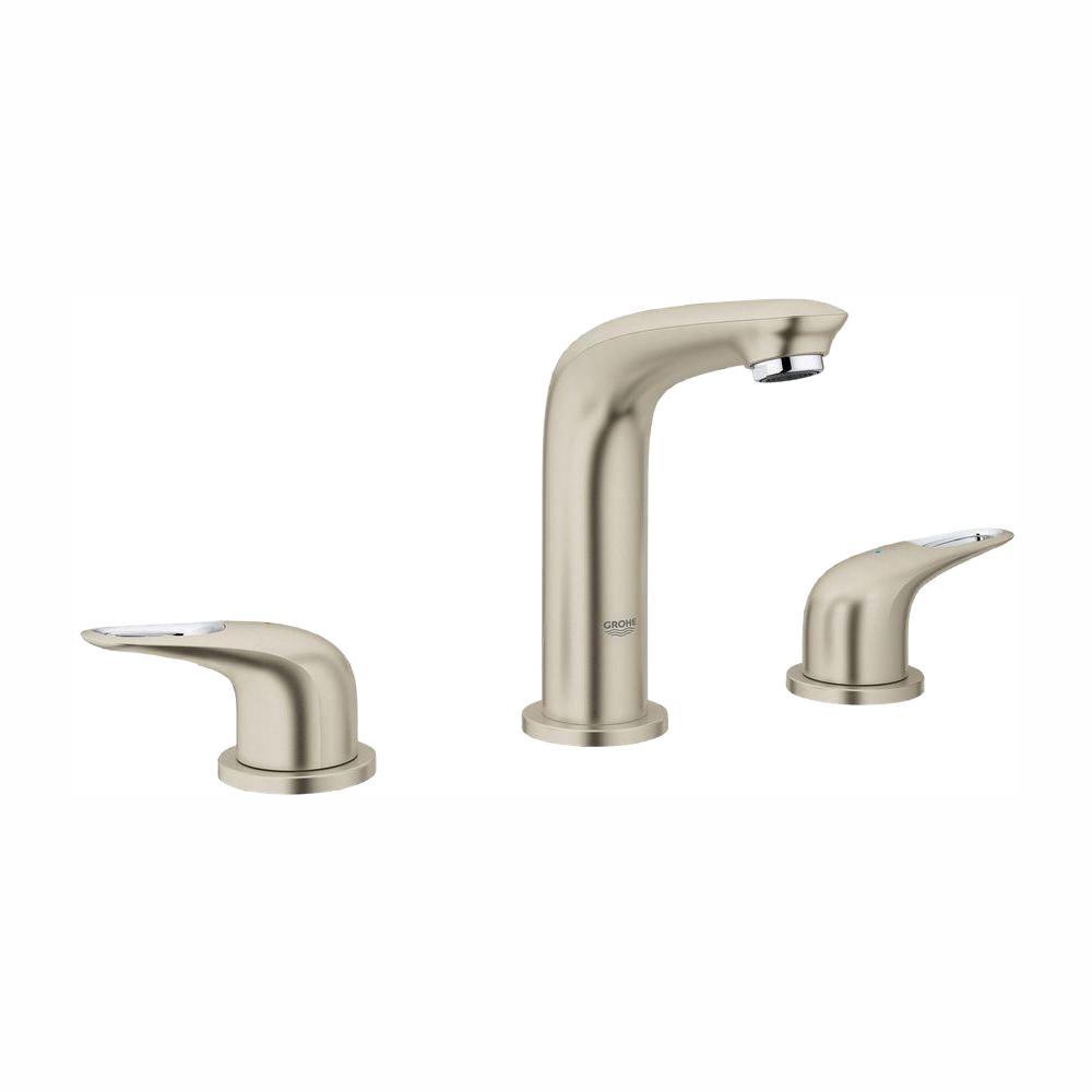 Eurostyle 8 in. Widespread 2-Handle Bathroom Faucet in Brushed Nickel Infinity