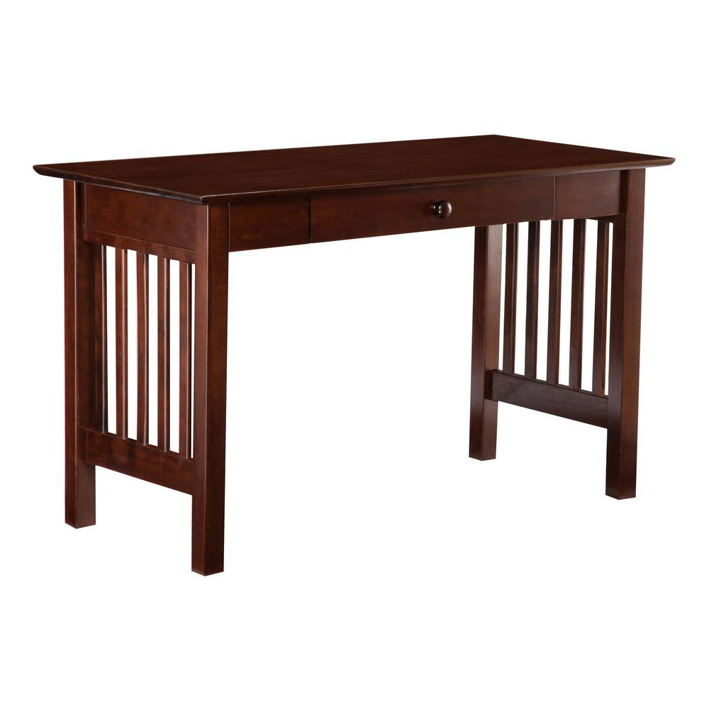 Atlantic Furniture Mission Walnut Desk with Drawer-AH12214 - The ...