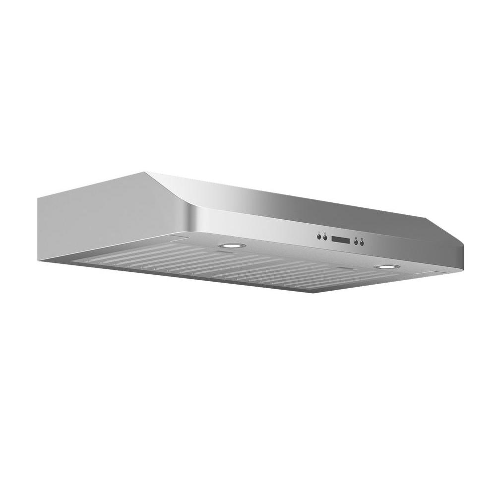 Ancona Slim Chef 30 in. Under-Cabinet Range Hood in Stainless ...