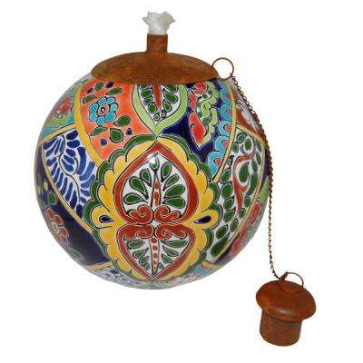 Talavera Fiesta Design Table Top Torch