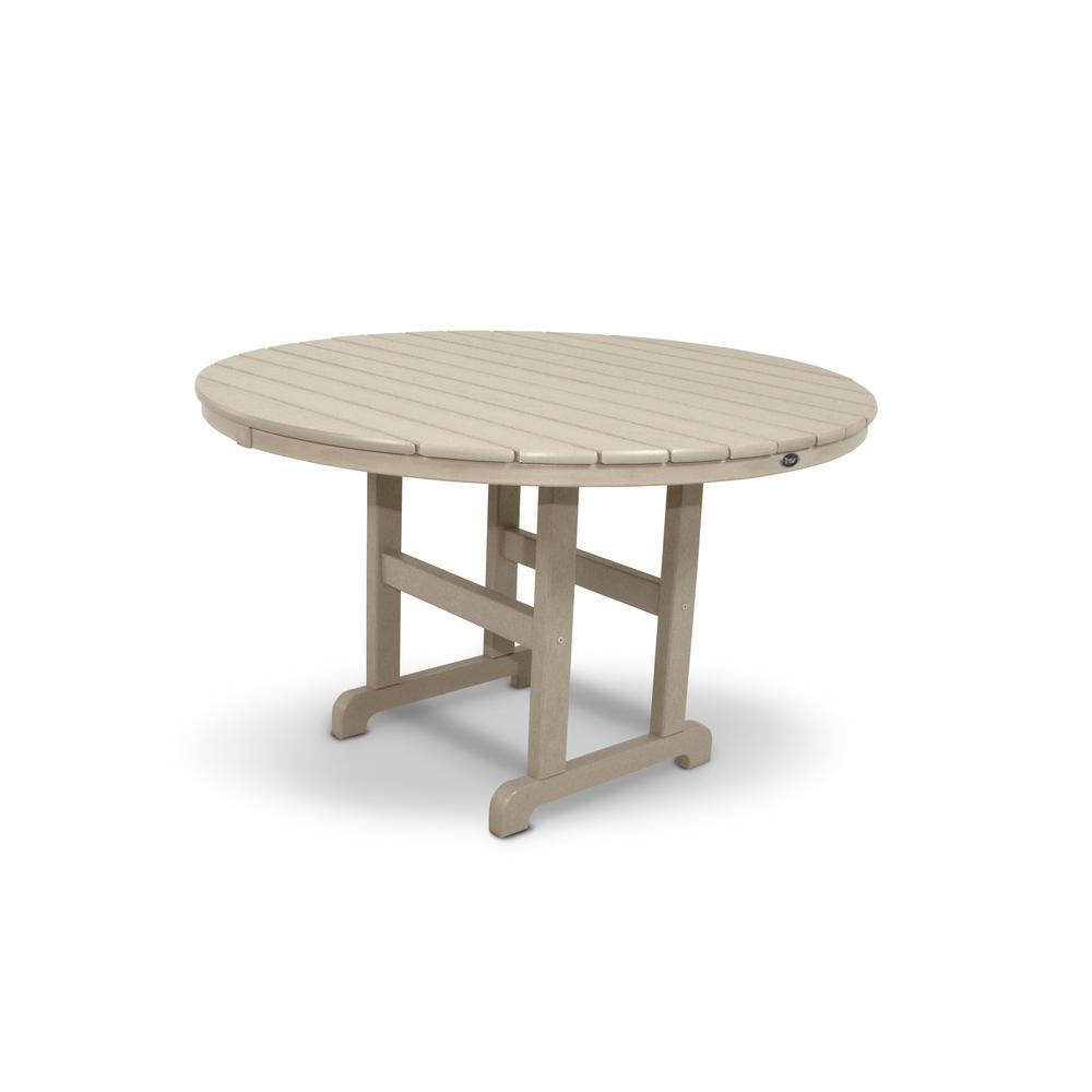 Trex outdoor furniture monterey bay 48 in sand castle for Small outdoor patio table