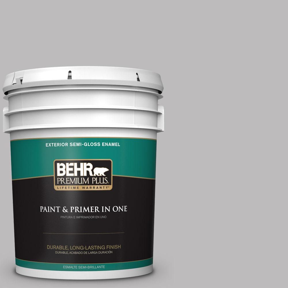 5 gal. #PPU16-11 Grape Creme Semi-Gloss Enamel Exterior Paint