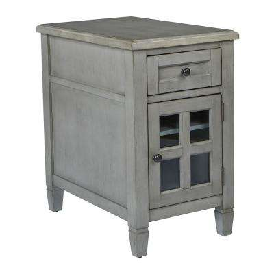 Drayton Antique Grey Side Table with Power