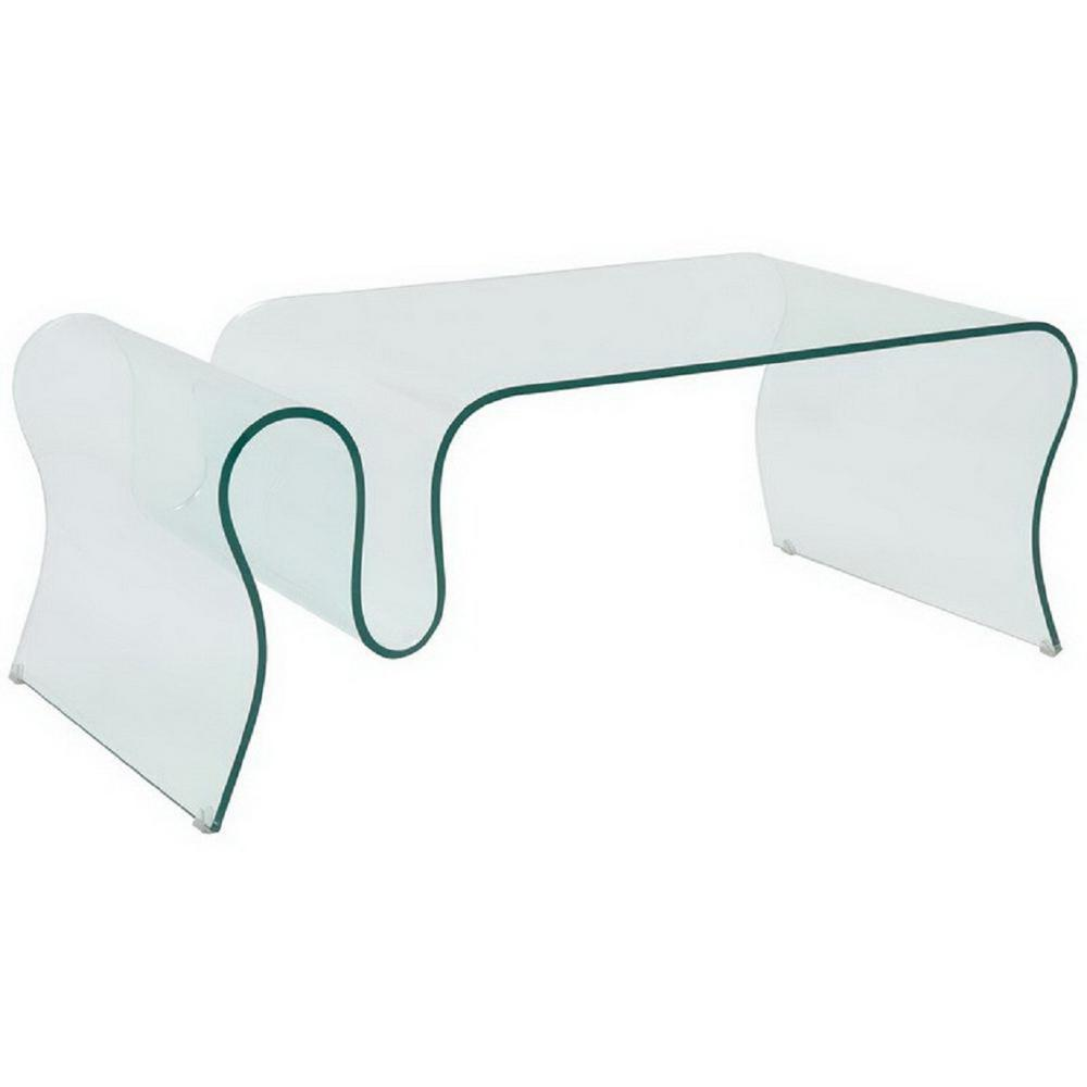 Fab Gl And Mirror 1 2 In Thick Bent Coffee Table Ct066