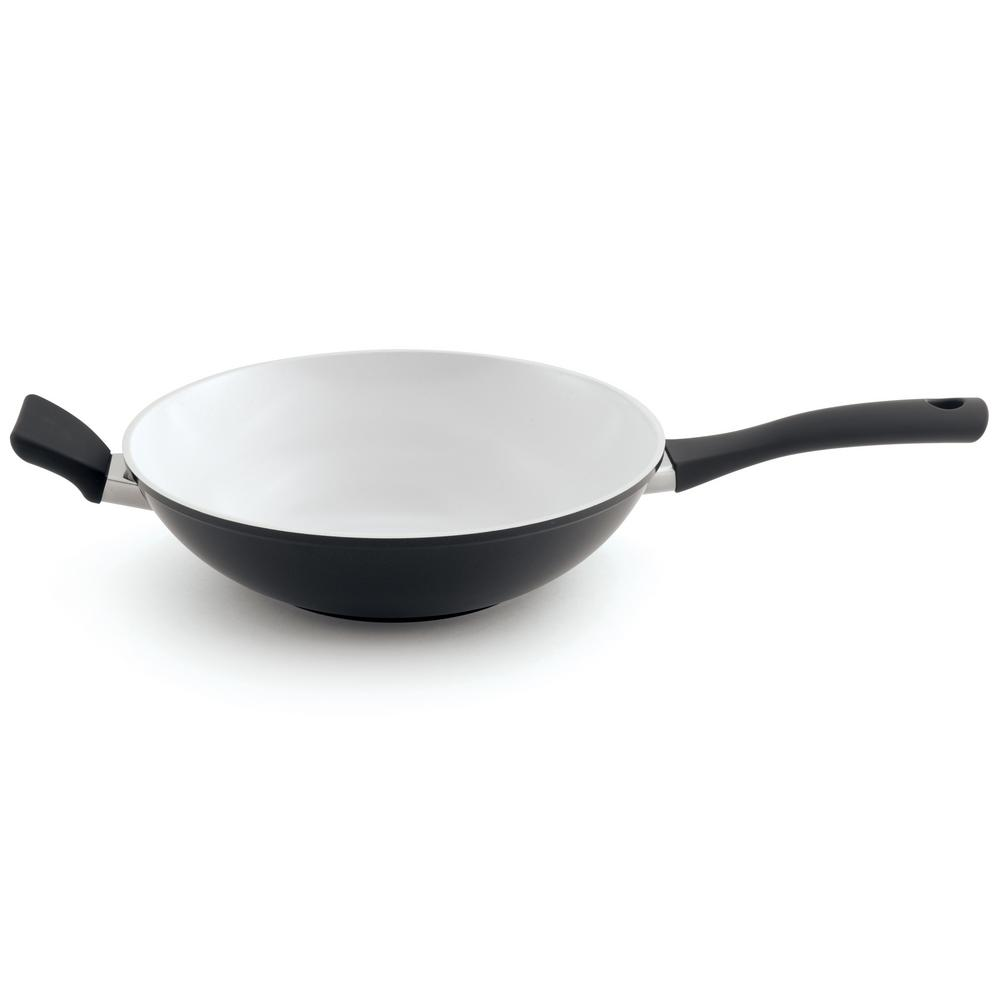 Essentials 11 in. Aluminum Non-Stick Wok Pan