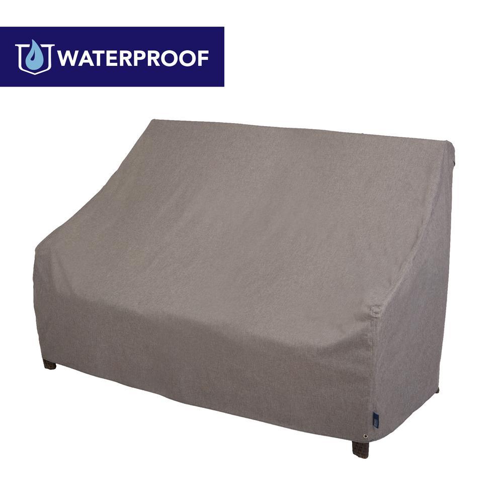 Garrison Waterproof Outdoor Patio Loveseat Cover, 82.5 in. W x 38 in. D x 38.25 in. H, Heather Gray