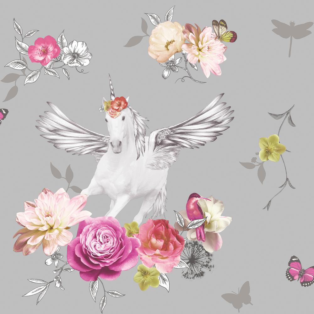 Anastasia Silver Wallpaper