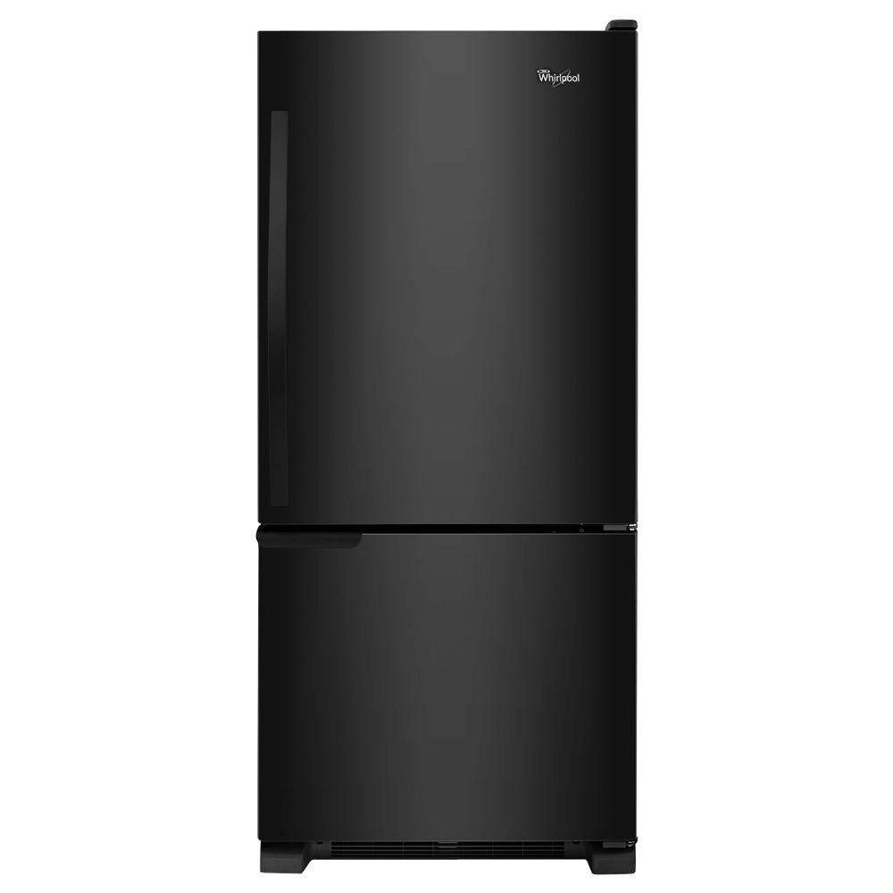 18.7 cu. ft. Bottom Freezer Refrigerator in Black