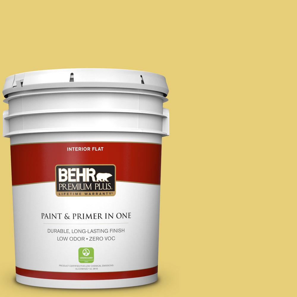 BEHR Premium Plus 5-gal. #P320-5 Green Papaya Flat Interior Paint