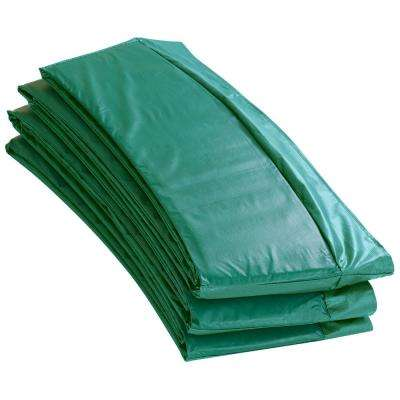 Green Super Trampoline Safety Pad Spring Cover Fits for 15 ft. Round Trampoline Frame