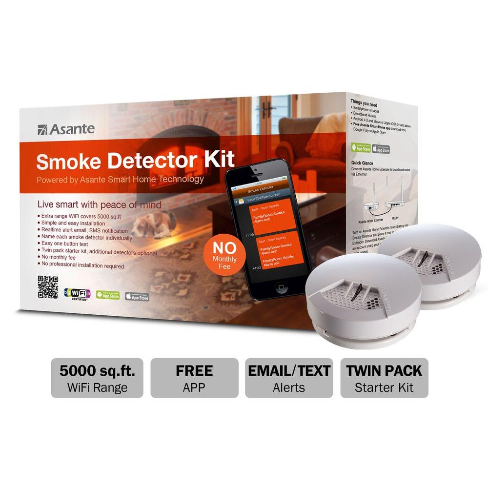 Asante Battery-Operated Smoke Detector Kit