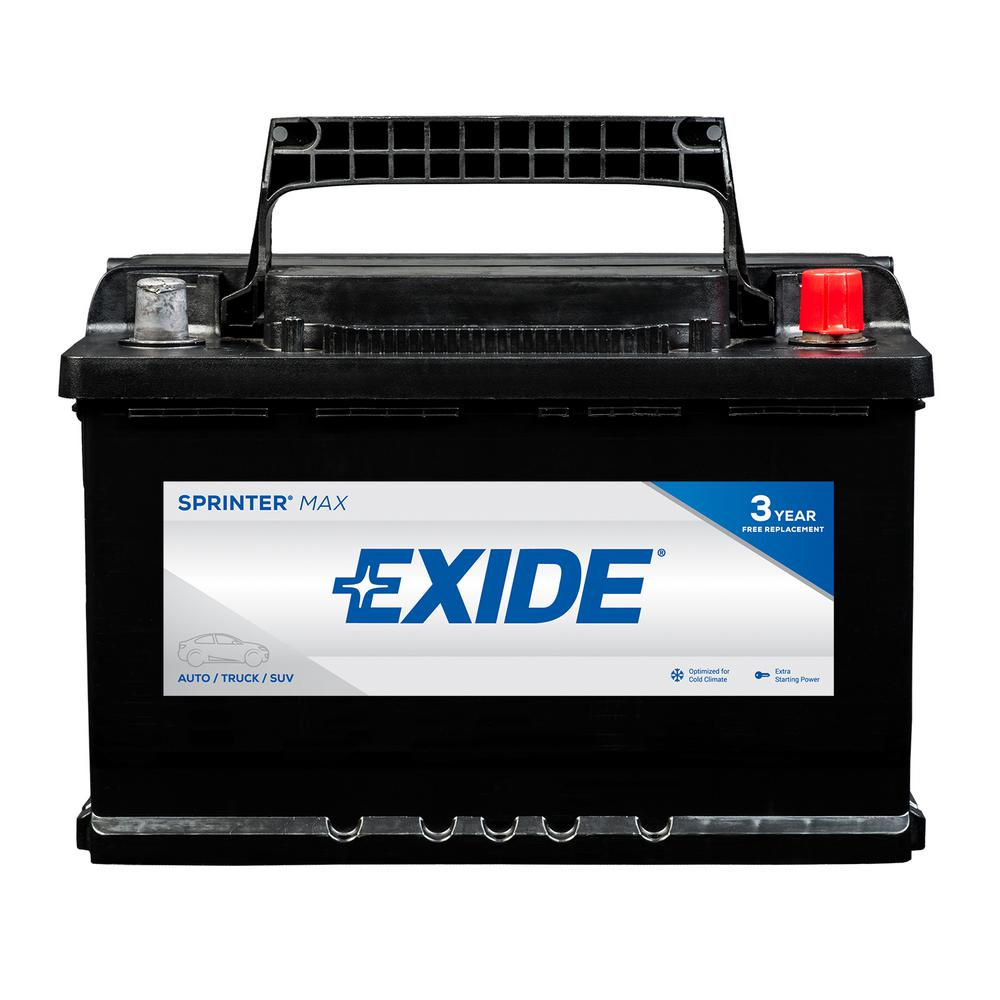 Exide SPRINTER MAX 12 volts Lead Acid 6-Cell H6/L3/48 Group Size 750 Cold  Cranking Amps (BCI) Auto Battery