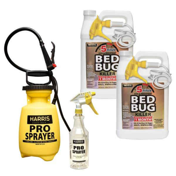1 Gal. 5-Minute Bed Bug Killer (2-Pack) Total 256 oz., 32 oz. Professional Spray Bottle & 1 Gal. Pump Sprayer Value Pack