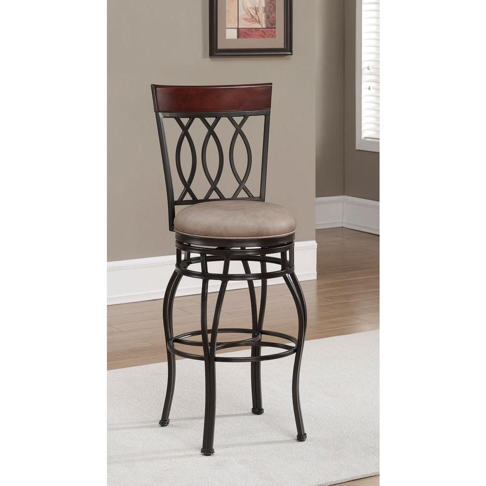 Bella 30 in. Aged Sienna Cushioned Bar Stool
