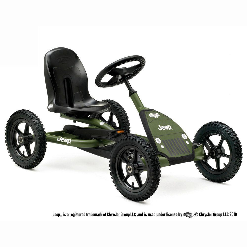 BERG Jeep Junior Children's Green Pedal Go-Kart, Greens