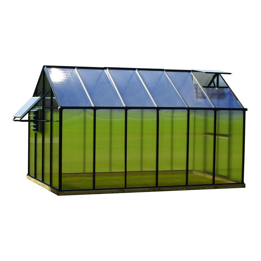 8 ft. x 12 ft. Black Mojave Greenhouse