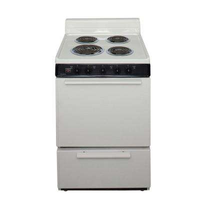 24 in. 2.97 cu. ft. Electric Range in Biscuit