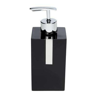 7 in. Lotion Dispenser in Black Resin