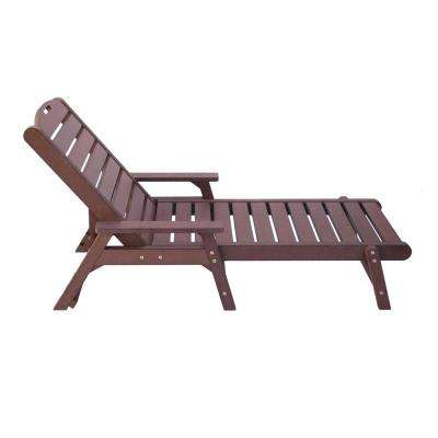 Chateau Brown Plastic Outdoor Chaise Lounge