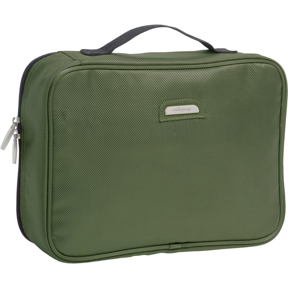 2675eb03993a WallyBags Olive Hanging Travel Toiletry Bag-440 OLIVE - The Home Depot