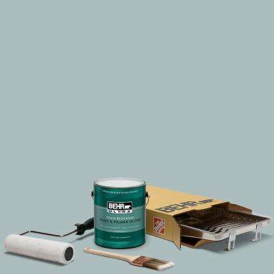 1 gal. #HDC-CT-26 Watery Ultra Semi-Gloss Enamel Interior Paint and 5-Piece Wooster Set All-in-One Project Kit