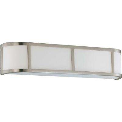 Andra 3-Light Brushed Nickel Sconce with Satin White Glass